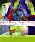 Critical Thinking, Thoughtful Writing 4th edition 9780618783489 0618783482