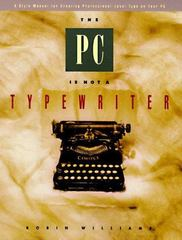 The Pc is not a typewriter 1st edition 9780938151494 0938151495