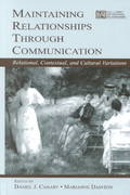Maintaining Relationships Through Communication 1st edition 9780805839890 0805839895