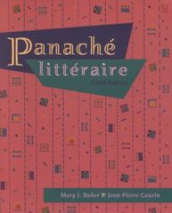 Panache litteraire (with Audio Tape) 3rd Edition 9780838455333 0838455336