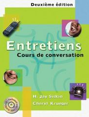 Entretiens 2nd Edition 9780030290466 0030290465