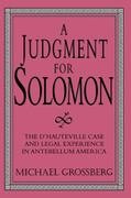 A Judgment for Solomon 1st Edition 9780521557450 0521557453