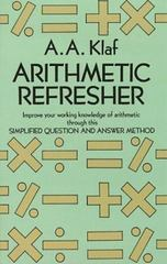 Arithmetic Refresher 0 9780486212418 0486212416