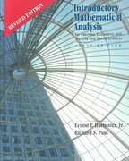 Introductory Mathematical Analysis for Business, Economics and Life and Social Sciences 10th edition 9780130087508 0130087505