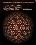 Student Solutions Manual for Yoshiwara/Yoshiwara's Intermediate Algebra: Functions and Graphs 1st edition 9780534386108 0534386105