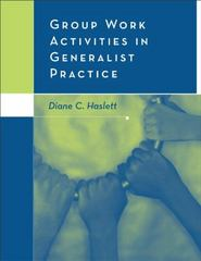 Group Work Activities in Generalist Practice 1st edition 9780534617851 0534617859
