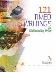 121 Timed Writings with Skillbuilding Drills (with MicroPace Pro Individual) 7th edition 9780538444392 0538444398