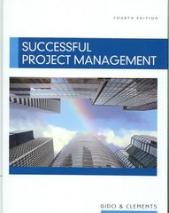Successful Project Management (with Microsoft Project CD-ROM) 4th edition 9780324656152 0324656157