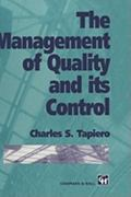 The Management of Quality and Its Control 1st edition 9780412557200 0412557207