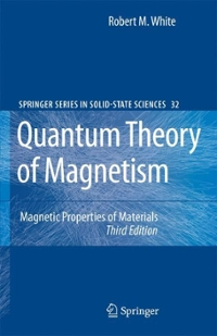 Quantum Theory of Magnetism 3rd edition 9783540651161 3540651160