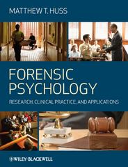 Forensic Psychology 1st Edition 9781405151382 1405151382