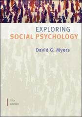 Exploring Social Psychology 5th Edition 9780073370644 0073370649