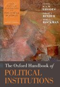 The Oxford Handbook of Political Institutions 1st Edition 9780199548460 0199548463