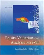 Equity Valuation and Analysis w/eVal 3rd Edition 9780073526898 0073526894