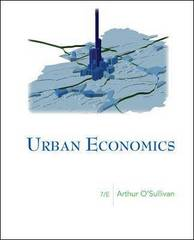 Urban Economics 7th edition 9780073375786 0073375780