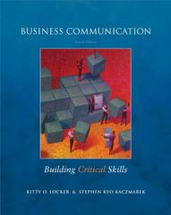 Business Communication: Building Critical Skills 4th edition 9780073377728 0073377724