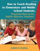 How to Teach Reading to Elementary and Middle School Students 1st Edition 9780205625420 0205625428