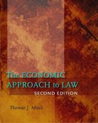 The Economic Approach to Law, Second Edition 2nd Edition 9780804756709 0804756708