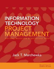 Information Technology Project Management 3rd Edition 9780470371930 0470371935