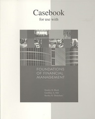 Casebook to accompany Foundations of Financial Management 13th edition 9780073363646 0073363642