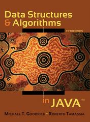 Data Structures and Algorithms in Java 5th edition 9780470383261 0470383267