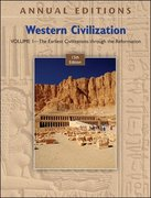 Annual Editions: Western Civilization, Volume 1: The Earliest Civilizations through the Reformation, 15/e 15th Edition 9780073516332 0073516333