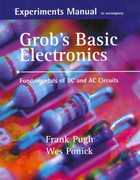 Experiments Manual with simulation CD to accompany Grob's Basic Electronics: Fundamentals of DC/AC Circuits 1st edition 9780073254814 0073254819