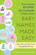 Baby Names Made Easy 0 9781416567479 141656747X