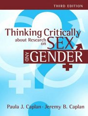 Thinking Critically about Research on Sex and Gender 3rd Edition 9781317342922 1317342925