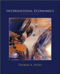 International Economics 14th edition 9780073375755 0073375756