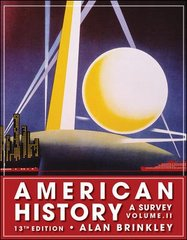 American History: A Survey, Volume 2 13th edition 9780077238544 0077238540