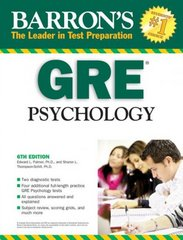 Barron's GRE Psychology 6th Edition 9780764140143 0764140140
