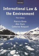 International Law and the Environment 3rd edition 9780198764229 0198764227