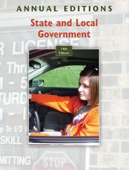 Annual Editions: State and Local Government, 14/e 14th edition 9780073516318 0073516317