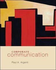 Corporate Communication 5th edition 9780073377735 0073377732