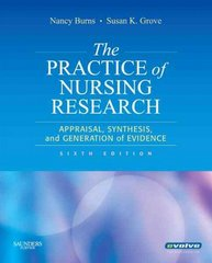 The Practice of Nursing Research 7th Edition 9780323293310 032329331X