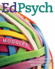 EdPsych: Modules 1st edition 9780073378503 007337850X