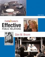 Cutlip and Center's Effective Public Relations 10th Edition 9780136029694 0136029698