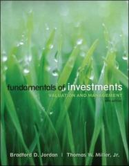 Fundamentals of Investments 5th edition 9780073382357 0073382353