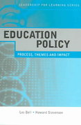 Education Policy 1st edition 9780415377720 0415377722