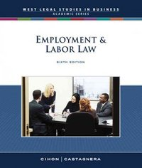 Employment and Labor Law, Reprint 6th edition 9780324663662 0324663668