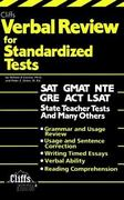 CliffsTestPrep Verbal Review for Standardized Tests 1st edition 9780822020349 0822020343