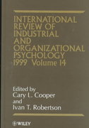 International Review of Industrial and Organizational Psychology, 1999 1st edition 9780471986669 0471986666