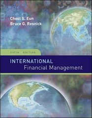 International Financial Management 5th Edition 9780073382340 0073382345