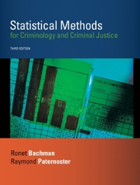 Statistical Methods for Criminology and Criminal Justice 3rd edition 9780073129242 0073129240