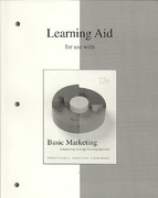 Learning Aid to accompany Basic Marketing 17th edition 9780073361925 0073361925