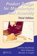 Product Design for Manufacture and Assembly, Third Edition 3rd Edition 9781420089288 1420089285
