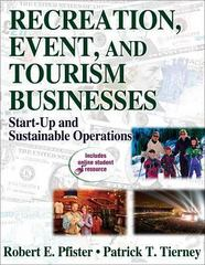 Recreation, Event, and Tourism Businesses 1st Edition 9780736063531 0736063536