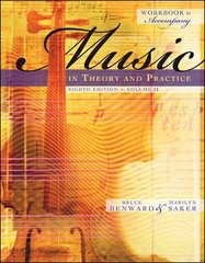 Workbook to accompany Music in Theory and Practice, Volume 2 8th edition 9780073127415 0073127418