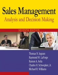 Sales Management 7th edition 9780765622594 0765622599
